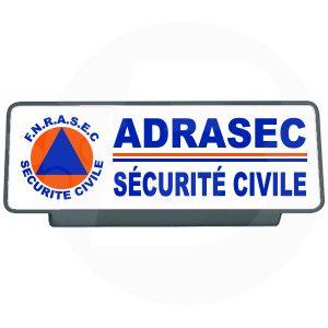 Clip pare soleil ADRASEC sécurité civile