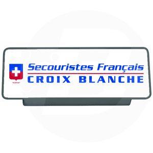 Clip pare soleil secouriste français Croix Blanche